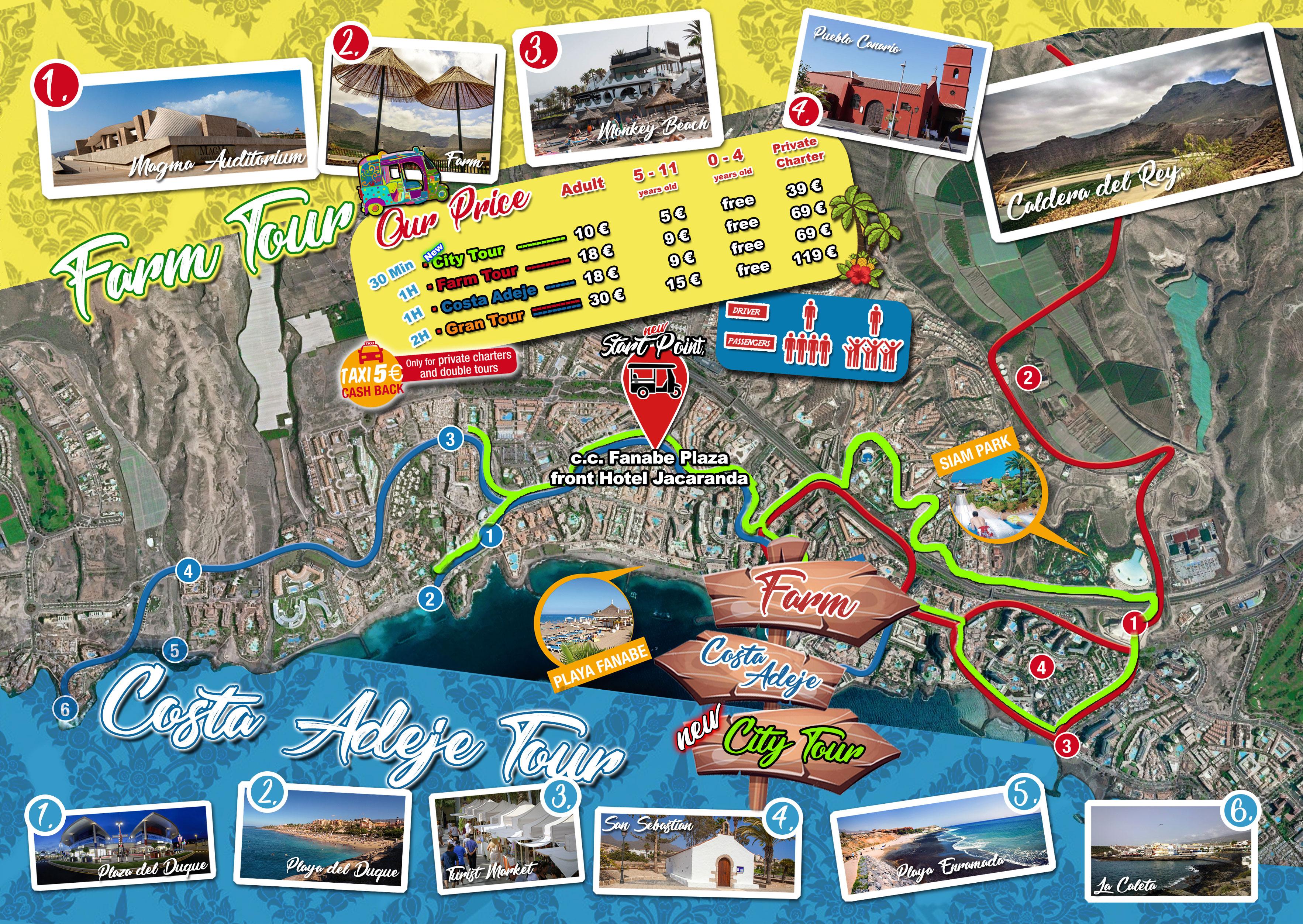 sweet tours tenerife mappa